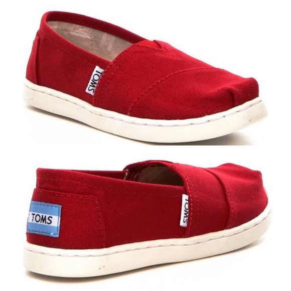 713f644651f Toms Youth Classic Red Canvas Shoes. M 5b3fea7e2beb796f8ce0dc6d